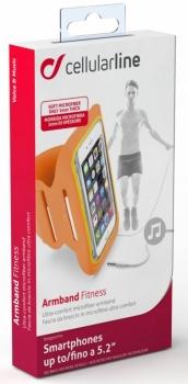 CellularLine Armband Fitness sportovní pouzdro na paži pro mobilní telefon, mobil, smartphone do 5,2 krabička