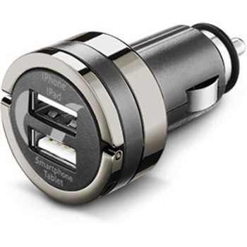 CellularLine USB Car Charger Dual Plus 21W CL nabíječka do auta s 2x USB výstupem a 4,2A proudem