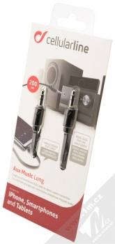 CellularLine Aux Music Long hudební kabel s jack 3,5mm konektorem černá (black) krabička