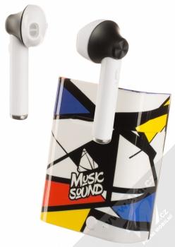 Cellularline Music Sound TWS5 Bluetooth Earphones stereo sluchátka bílá černá (white black)