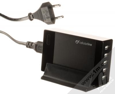 Cellularline USB Energy Station 40W nabíječka do sítě s 5x USB výstupy (TX-MU500) černá (black)