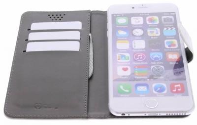 Celly Wally Unica XXL univerzální flipové pouzdro pro mobilní telefon, mobil, smartphone bílá (white)