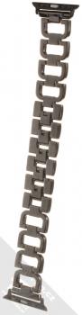 Dahase Bling D-Diamond kovový pásek s krystaly na zápěstí pro Apple Watch 38mm, Watch 40mm černá (black) zezadu