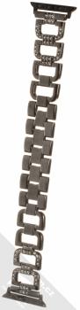 Dahase Bling D-Diamond kovový pásek s krystaly na zápěstí pro Apple Watch 38mm, Watch 40mm černá (black)