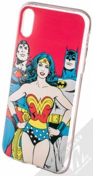 DC Comics Justice League 003 TPU ochranný silikonový kryt s motivem pro Apple iPhone XR červená (red)