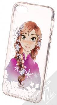 Disney Anna 001 TPU ochranný silikonový kryt s motivem pro Apple iPhone 5, iPhone 5S, iPhone SE průhledná (transparent)