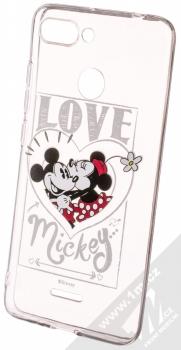 Disney Mickey & Minnie 002 TPU ochranný silikonový kryt s motivem pro Xiaomi Redmi 6 průhledná (transparent)