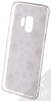 Disney Minnie Mouse 007 TPU ochranný silikonový kryt s motivem pro Samsung Galaxy S9 bílá (white) zepředu