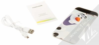 Disney Olaf a Sven 001 Power Bank záložní zdroj 6000mAh s motivem bílá (white) balení