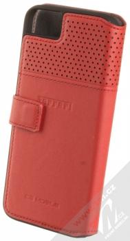 Ferrari Lusso Folio Case flipové pouzdro pro Apple iPhone 7, iPhone 8 (FEHOFLBKP7RE) červená stříbrná (red silver) zezadu