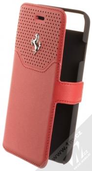 Ferrari Lusso Folio Case flipové pouzdro pro Apple iPhone 7, iPhone 8 (FEHOFLBKP7RE) červená stříbrná (red silver)