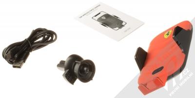 Ferrari Scuderia Car Holder Wireless & Sensor držák s bezdrátovým nabíjením a infrared senzorem do mřížky ventilace v automobilu (FECCWLPDRE) červená (red) balení