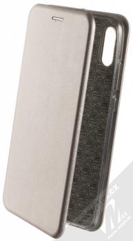 Forcell Elegance Book flipové pouzdro pro Huawei P Smart (2019) kovově šedá (steel)