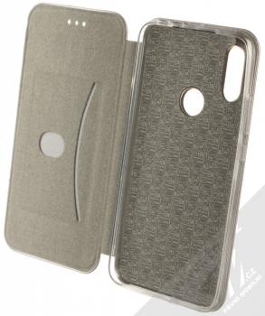 Forcell Elegance Book flipové pouzdro pro Xiaomi Redmi 7 kovově šedá (steel) otevřené
