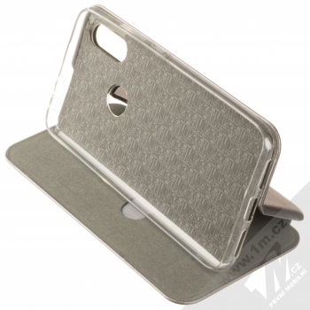 Forcell Elegance Book flipové pouzdro pro Xiaomi Redmi 7 kovově šedá (steel) stojánek