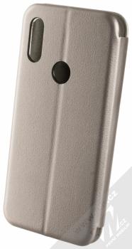 Forcell Elegance Book flipové pouzdro pro Xiaomi Redmi 7 kovově šedá (steel) zezadu