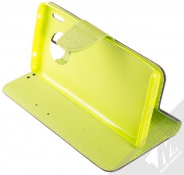 Forcell Fancy Book flipové pouzdro pro Huawei Mate 30 Pro modrá limetkově zelená (blue lime) stojánek