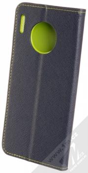 Forcell Fancy Book flipové pouzdro pro Huawei Mate 30 Pro modrá limetkově zelená (blue lime) zezadu