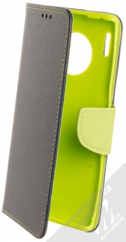 Forcell Fancy Book flipové pouzdro pro Huawei Mate 30 Pro modrá limetkově zelená (blue lime)