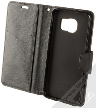 Forcell Fancy Book flipové pouzdro pro Samsung Galaxy S7 Edge černá (black) otevřené