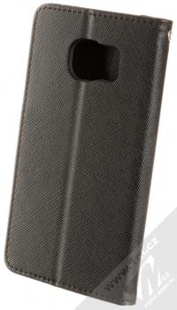 Forcell Fancy Book flipové pouzdro pro Samsung Galaxy S7 Edge černá (black) zezadu