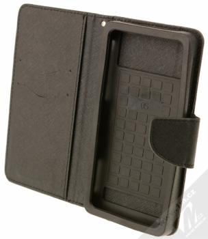 Forcell Fancy Universal 5,3 - 5,8 univerzální flipové pouzdro černá (black) otevřené