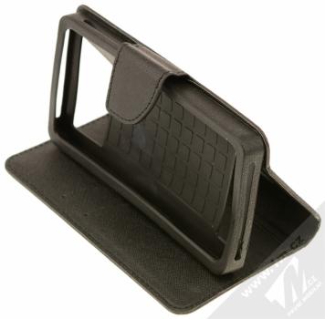 Forcell Fancy Universal 5,3 - 5,8 univerzální flipové pouzdro černá (black) stojánek