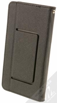 Forcell Fancy Universal 5,3 - 5,8 univerzální flipové pouzdro černá (black) zezadu