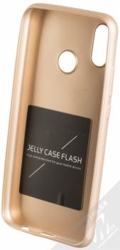Forcell Jelly Matt Case TPU ochranný silikonový kryt pro Huawei P20 Lite zlatá (gold) zepředu