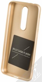Forcell Jelly Matt Case TPU ochranný silikonový kryt pro Nokia 5.1 Plus zlatá (gold) zepředu