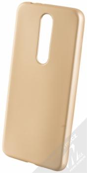 Forcell Jelly Matt Case TPU ochranný silikonový kryt pro Nokia 5.1 Plus zlatá (gold)