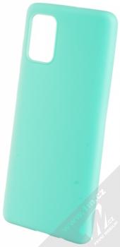 Forcell Jelly Matt Case TPU ochranný silikonový kryt pro Samsung Galaxy A71 mátově zelená (mint green)
