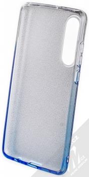 Forcell Shining třpytivý ochranný kryt pro Huawei P30 stříbrná modrá (silver blue) zepředu