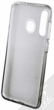 Forcell Shining třpytivý ochranný kryt pro Samsung Galaxy A50 stříbrná černá (silver black) zepředu