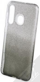 Forcell Shining třpytivý ochranný kryt pro Samsung Galaxy A50 stříbrná černá (silver black)