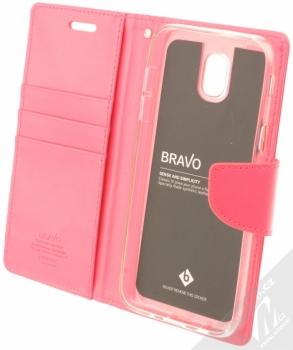Goospery Bravo Diary flipové pouzdro pro Samsung Galaxy J5 (2017) sytě růžová (hot pink) otevřené