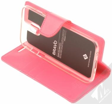 Goospery Bravo Diary flipové pouzdro pro Samsung Galaxy J5 (2017) sytě růžová (hot pink) stojánek