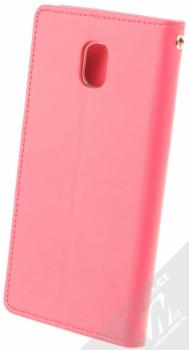 Goospery Bravo Diary flipové pouzdro pro Samsung Galaxy J5 (2017) sytě růžová (hot pink) zezadu