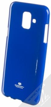 Goospery Jelly Case TPU ochranný silikonový kryt pro Samsung Galaxy A6 (2018) tmavě modrá (dark blue)