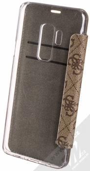 Guess 4G Flower Desire Booktype Case flipové pouzdro pro Samsung Galaxy S9 Plus (GUFLBKS9L4GROB) hnědá (brown) zezadu