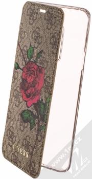 Guess 4G Flower Desire Booktype Case flipové pouzdro pro Samsung Galaxy S9 Plus (GUFLBKS9L4GROB) hnědá (brown)