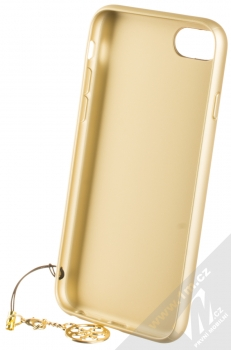 Guess Charms 4G ochranný kryt pro Apple iPhone 6, iPhone 6S, iPhone 7, iPhone 8 (GUHCI8GF4GGR) šedá zlatá (grey gold) zepředu