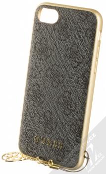 Guess Charms 4G ochranný kryt pro Apple iPhone 6, iPhone 6S, iPhone 7, iPhone 8 (GUHCI8GF4GGR) šedá zlatá (grey gold)
