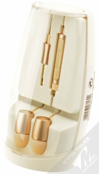 Huawei AM12 Plus originální stereo headset s ovladačem a konektorem Jack 3,5mm pro mobilní telefon Huawei a Honor zlatá (gold) krabička
