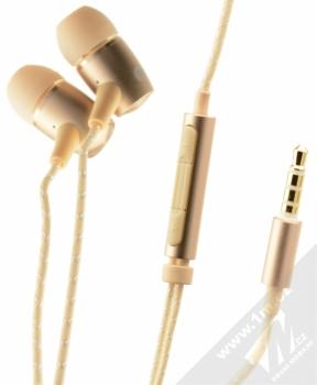 Huawei AM12 Plus originální stereo headset s ovladačem a konektorem Jack 3,5mm pro mobilní telefon Huawei a Honor zlatá (gold)