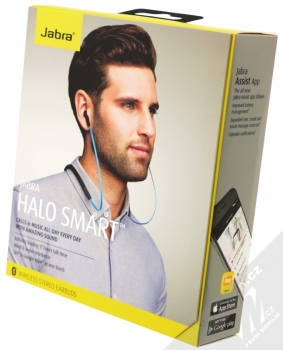 Jabra Halo Smart Bluetooth Stereo headset modrá (blue) krabička