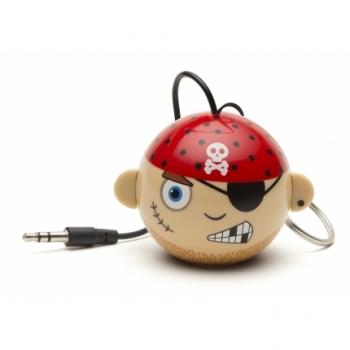 KitSound Mini Buddy Pirate reproduktor pro mobilní telefon, mobil, smartphone - Pirát červeno béžová (red beige)