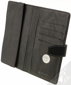 Krusell Vargon Universal WalletCase 5XL univerzální flipové pouzdro typu peněženka pro mobilní telefon, mobil, smartphone černá (black) otevřené