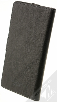 Krusell Vargon Universal WalletCase 5XL univerzální flipové pouzdro typu peněženka pro mobilní telefon, mobil, smartphone černá (black) zezadu
