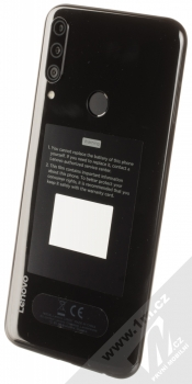 Lenovo K10 Plus černá (black) šikmo zezadu